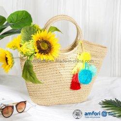 Tecidos de Tote Hobo Bag para mulheres de praia no Verão de tecelagem manufacturados ombro saco de mão