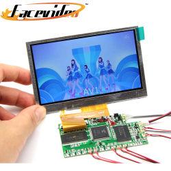La coutume de petite taille de l'écran LCD de 4,3 pouces écran du panneau TFT pour la Vidéo Brochure Lecteur de carte de voeux d'invitation de la publicité