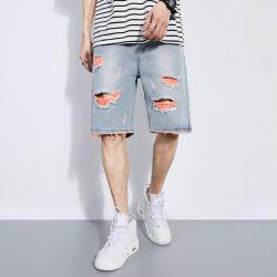 Comercio al por mayor de verano para hombres personalizados Shorts pantalones vaqueros en pantalones cortos