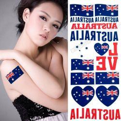 Les fans de football drapeau de la Nation Tattoo autocollant