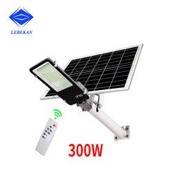 Marcação RoHS 100W 150W 300W Controle Remoto de Energia Energia Solar jardim exterior Rua LED Solar Luz de Estrada