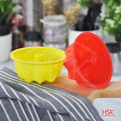 Durabilidad reutilizables y pastel de cocción - Heat-Resistant Moldes de silicona de alimentos 100% de la Sm-C003