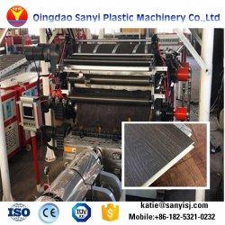 Haga clic en el efecto de madera de plástico PVC piso vinílico Spc maquinaria de producción de la extrusora