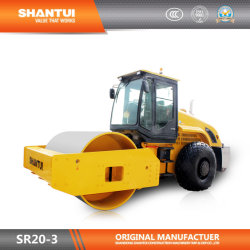 Тротуар ролик Shantui официальным производителем 20 тонн Full-Hydraulic Single-Drum Вибрационный дорожный каток (SR20-3 дорожного движения)