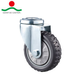 4 인치 회전대 볼트 구멍을%s 가진 회색 PVC 피마자 바퀴