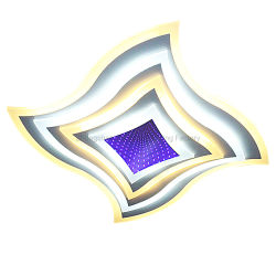 2.4G затемнение светодиодные потолочные светильники, с помощью пульта дистанционного управления Four-Sided дизайн и оформление наружного зеркала заднего вида 3D-сине-фиолетового цвета в силу
