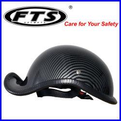 Acessórios de motocicleta em fibra de carbono do protector de segurança capacete de Design Personalizado Face completo semi-aberto Jet Modular Cruz de Material de fibra de carbono