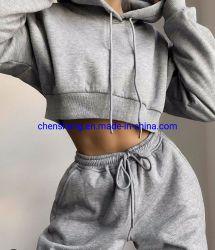Usura all'ingrosso del vestito di pantaloni della signora Girl Jogging Leisure Hoodie delle donne della fabbrica dell'OEM di modo per il grande formato casuale