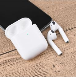 TWS 이어폰형 Bluetooth 이어버드 5.0 무선 스테레오용 도매 충전 케이스가 있는 두 번째 이어폰