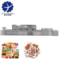 Tipo de túnel de salsa de frijoles secos microondas cuajada la esterilización de la máquina de secado
