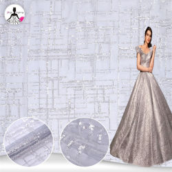 Neuer Ansammlungs-Funkelnkristallsequins-Spitze-Gewebe-Schein-Sequined Spitze-Gewebe