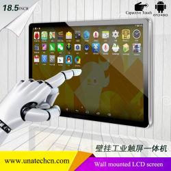 18.5/21.5/32/43/49/55pouces écran LCD de l'intérieur pour montage mural supermarché paysage Digital Signage Media Player Capactive Android système d'affichage écran tactile