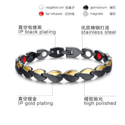 B26-316L Edelstahl-negatives Ionenmagnetisches Gesundheits-Armband für Weibchen