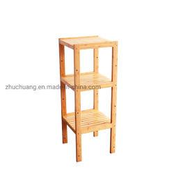 Flor de la planta de bambú Soporte Bastidor Rack de la zapata de la pantalla de Banco de la torre de estante de almacenamiento en Rack, cuarto de baño