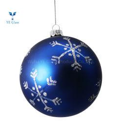 Peint main Bille de verre d'ornements de Noël pour la décoration des arbres de Noël