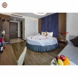 Re di legno stabilito Queen Round Bed di disegno di Janpanese dell'hotel della mobilia alla moda della camera da letto