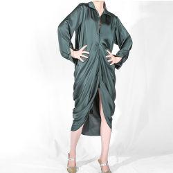 Vestido de moda personalizada Ruffles mulheres vestido de camisa de noite