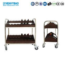 Лучшее качество Heavybao деревянной 2 уровня горизонтального красного вина присутствует в тележке