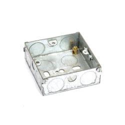 Interruptor Pre-Galvanized interruptor toma una pista 3X3 caja de conductos de metal de acero