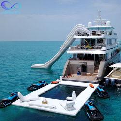 Inflables de calidad de la piscina hinchable de yates Océano Mar, Piscina con la red de doble capa de tejido de doble pared de flotación de la piscina de yates