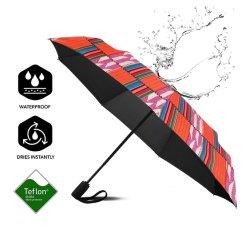Reticolo rosso della Risonanza di protezione dell'ombrello di Short dell'ombrello impermeabile ed UV dell'ombrello africano della stampa