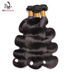 El cabello humano natural brasileño trama 10A 11A mejores materias alineados de la cutícula del cabello virgen ola cuerpo
