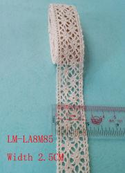 의복 부속품 색깔 소매 DIY Artic 트리밍 도매 레이스 손질 길쌈 파 레이스 Purfle 행주 레이스 면 크로셰 뜨개질 2.5cm 면 레이스 직물 레이스