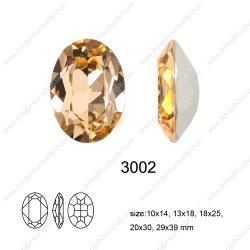 수정같은 유리 형식 보석 부속품 (DZ-3002)
