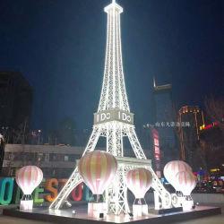 고온 판매 사용자 지정 8m 10m 15m 20m 25m 아연 도금 강 야외 상업용 장식을 위한 거대한 파리 에펠 타워 모델