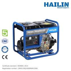 [Euro 5] Generador Diesel Portátil de 5kw de Construcción Fuerte (3 Fases) con Alerta de bajo Nivel de Aceite