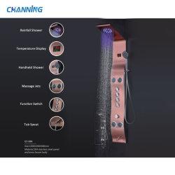 LED-Niederschlag-Dusche-Spalte-Aufsatz-Systems-Dusche-Panel Muti-Funktion Dusche-Kopf mit Karosserien-Strahlen-Edelstahl-Badezimmer-Dusche-Mischer (QT-088)