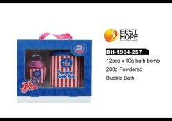 OEM/ODM natürliches Milch-Duft-wesentliches Minibad-Bomben-Geschenk-gesetzte Eigenmarke mit Papierkasten