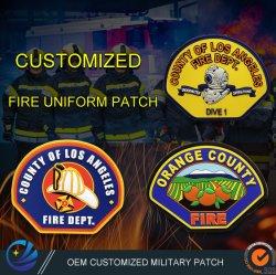 China Atacado Custom PVC silicone calçados de produto rótulo Jeas patches Vestuário acessório US Navy Army Fire Military uniforme Patch com Velcro
