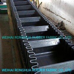 Il PE/Nn/resistenza termica/di temperatura elevata/resistente al fuoco/olio resistente/rottura resistente/resistente all'uso/acido ed alcali Resisitant/hanno ondulato il nastro trasportatore del muro laterale