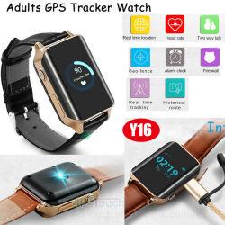 Le GPS tracker montre avec moniteur de fréquence cardiaque en temps réel pour les personnes âgées Y16