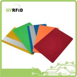 Schede variopinte del PVC nelle schede nere della ricompensa di colore rosso blu (GYRFID)