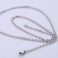 Catena sfaccettata in acciaio inox di fascino popolare per gioielli orecchini a collana Design artigianale di moda