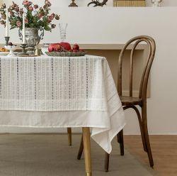 Chiffon de la Table Art de la dentelle de coton rouge Français Tablecloth draps en coton nappe de thé American Garden