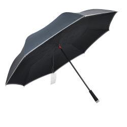 ハンドルのトーチライトが付いている新しくスマートな逆さまLEDによって逆にされる傘