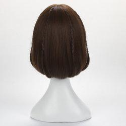Hot Sale perruque de cheveux courts femelle Bobo perruque réaliste de la tête de l'air perruque Bangs Bobo les cheveux bouclés défini