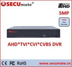 16 canaux 5MP enregistreur vidéo numérique de vidéosurveillance hybride Ahd DVR