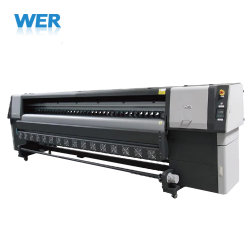 Impresora Flex bannière solvant imprimante avec tête d'impression Konica pour publicité de plein air