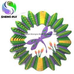 С цветными металлическими вращателя ветра Новый уровень скорости ветра на сад оформлены
