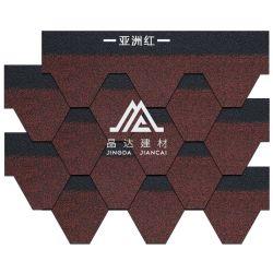 Hexagon Tegel van de Dakspaan van het Dakwerk van het Asfalt van het Type van Mozaïek voor de Gebouwen van Villa's