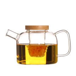 750ml théière en verre de thé Thé ensemble de la cuisinière avec filtre en verre
