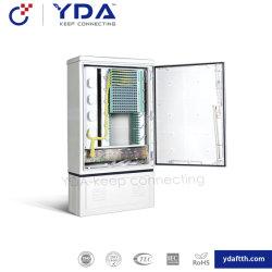 144 Fo Croix à fibres optiques de l'extérieur du Cabinet de connexion