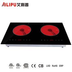 Ustensiles de cuisine d'appareils ménagers intégré dans l'induction électrique double cuiseur à infrarouge