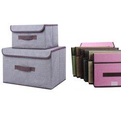 Plegable Custom Home ropa Juguetes Organizador Caja de almacenamiento no tejido Establecer