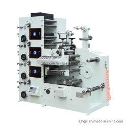 4 컬러 롤-롤 용지 자체 접착식 스티커 라벨 IR 드라이어 UV 드라이어 Flexo 인쇄 기계(라미네이션 회전 포함 다이 절단 Flexo 프린터