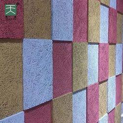 غرفة مؤتمرات مصنع تيانج ديكور الجدار صوت ودود للبيئة مضاد للنيران امتصاص الألواح الخشبية الصوف الصوتية